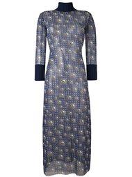 прозрачное платье с графическим принтом Jean Paul Gaultier Vintage