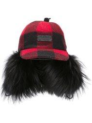 шляпа с отделкой из меха енота Dsquared2