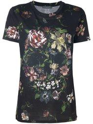 футболка с цветочным принтом Alexander McQueen