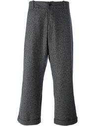 укороченные широкие брюки YMC