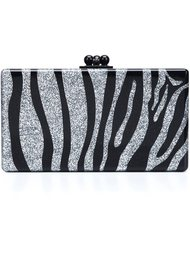 zebra pattern rectangular clutch Edie Parker