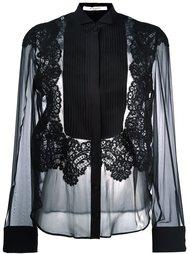 полупрозрачная рубашка с плиссированной манишкой Givenchy