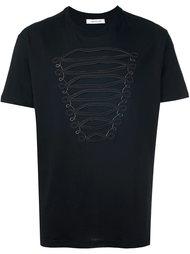 футболка с вышивкой  Pierre Balmain