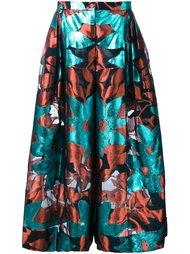 юбка А-образного силуэта с цветочным узором Delpozo