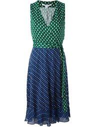 двухцветное платье с запахом Diane Von Furstenberg