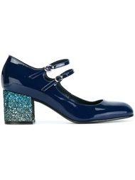 туфли-лодочки на каблуке с блестками Pollini