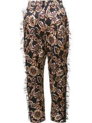 брюки с цветочным принтом   Rodarte