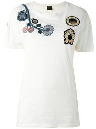 футболка с цветочной вышивкой  Mr & Mrs Italy