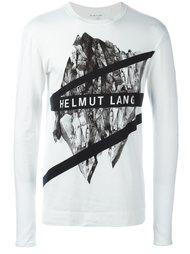 футболка с длинными рукавами и принтом-логотипом Helmut Lang