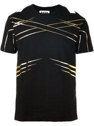 футболка с контрастными полосками   Les Hommes Urban
