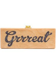 'grrreat' rectangular clutch Edie Parker