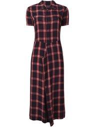 платье-рубашка в клетку Comme Des Garçons Vintage