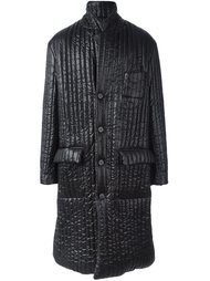 длинное дутое пальто Maison Margiela