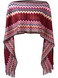 вязаное пончо зигзагообразной вязки   Missoni