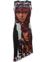 асимметричное платье с принтом женских лиц Jean Paul Gaultier Vintage