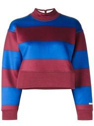 укороченная полосатая толстовка  Adidas By Stella Mccartney