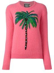 свитер с аппликацией пальмы  Fausto Puglisi