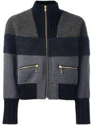 куртка-бомбер с контрастными панелями Kolor