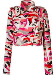 printed crop jacket Giuliana Romanno