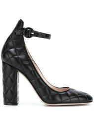 стеганые туфли с ремешком на щиколотке Gianvito Rossi