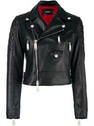 байкерская куртка со стегаными деталями Dsquared2