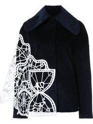 geometric panelled wide collar jacket Xiao Li