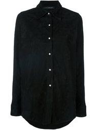 замшевая рубашка с длинными рукавами Manokhi