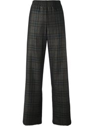клетчатые брюки прямого кроя Maison Margiela