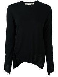 асимметричная футболка джерси Comme Des Garçons