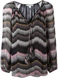 блузка с V-образным вырезом Diane Von Furstenberg