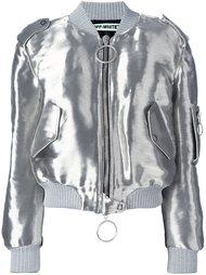 куртка-бомбер с отделкой металлик Off-White