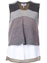 layered V-neck tank  Derek Lam 10 Crosby