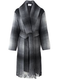 клетчатое пальто T By Alexander Wang