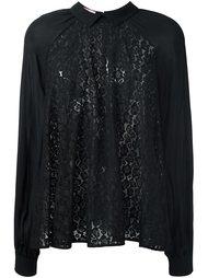 блузка с кружевной панелью Giamba