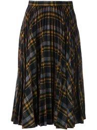 плиссированная юбка в клетку Maison Margiela