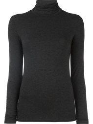 блузка с высокой горловиной и длинными рукавами Majestic Filatures