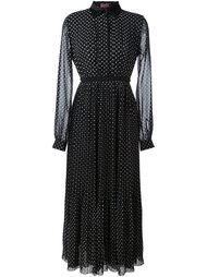 платье-рубашка в горошек Giamba