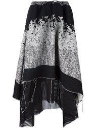 асимметричная драпированная юбка A Tentative Atelier