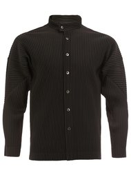 pleated band collar shirt  Homme Plissé Issey Miyake