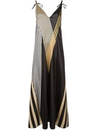 длинное платье с полосатым принтом Attico