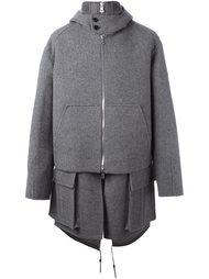 многослойное пальто свободного кроя Juun.J