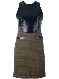 твидовое платье с контрастной панелью Courrèges