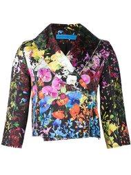 floral brocade crop jacket Jonathan Cohen