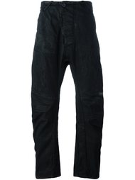 асимметричные брюки свободного кроя  11 By Boris Bidjan Saberi