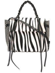 сумка-тоут с зебровым принтом  Elena Ghisellini