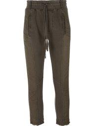 укороченные брюки с панельным дизайном Haider Ackermann