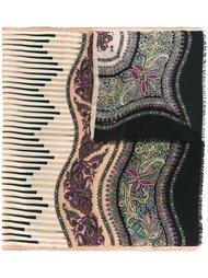 платок с узором и необработанными краями Etro