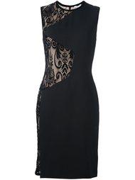 платье с кружевными вставками  Emanuel Ungaro