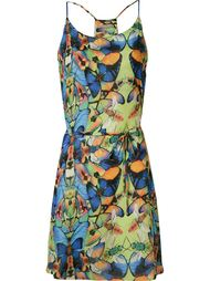 butterfly belted dress Blue Man