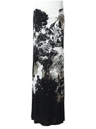 юбка с цветочным принтом   Roberto Cavalli